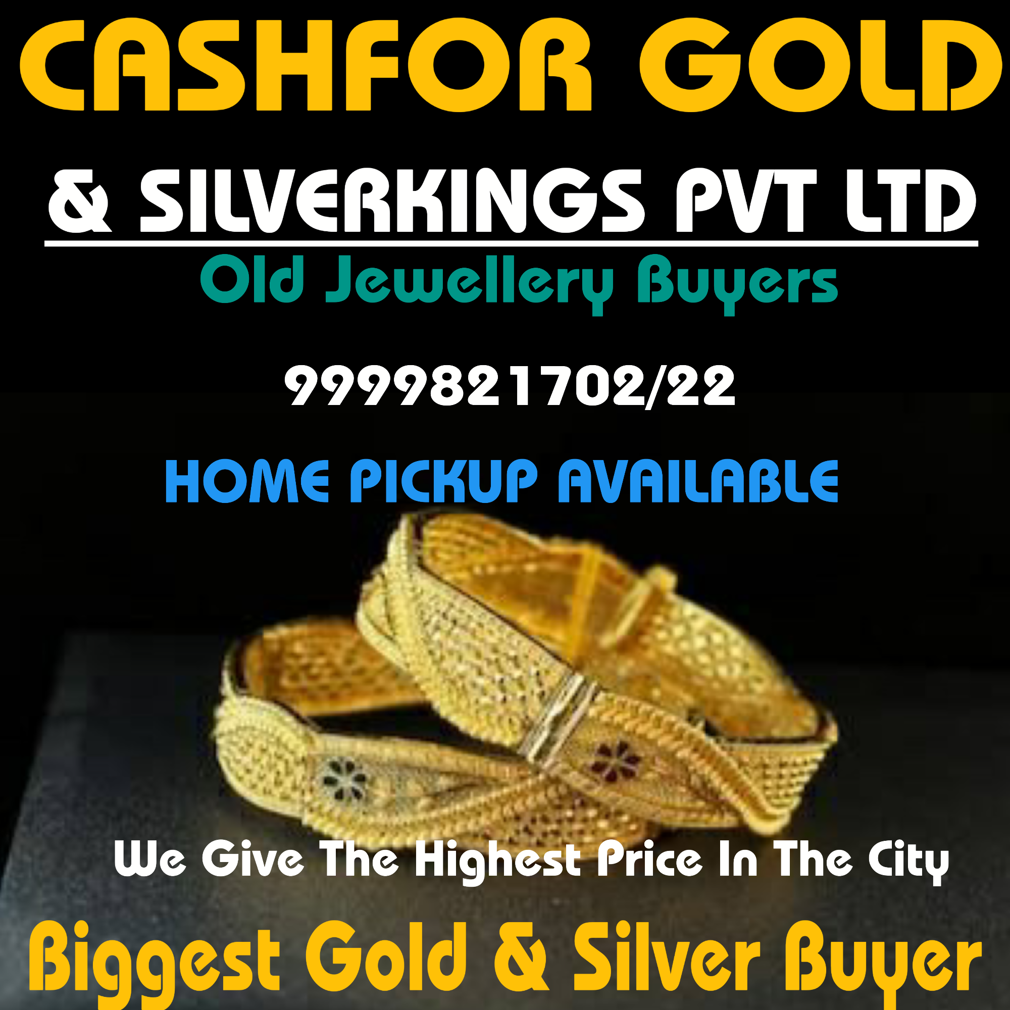 Silver jewellery for cash in khurejji