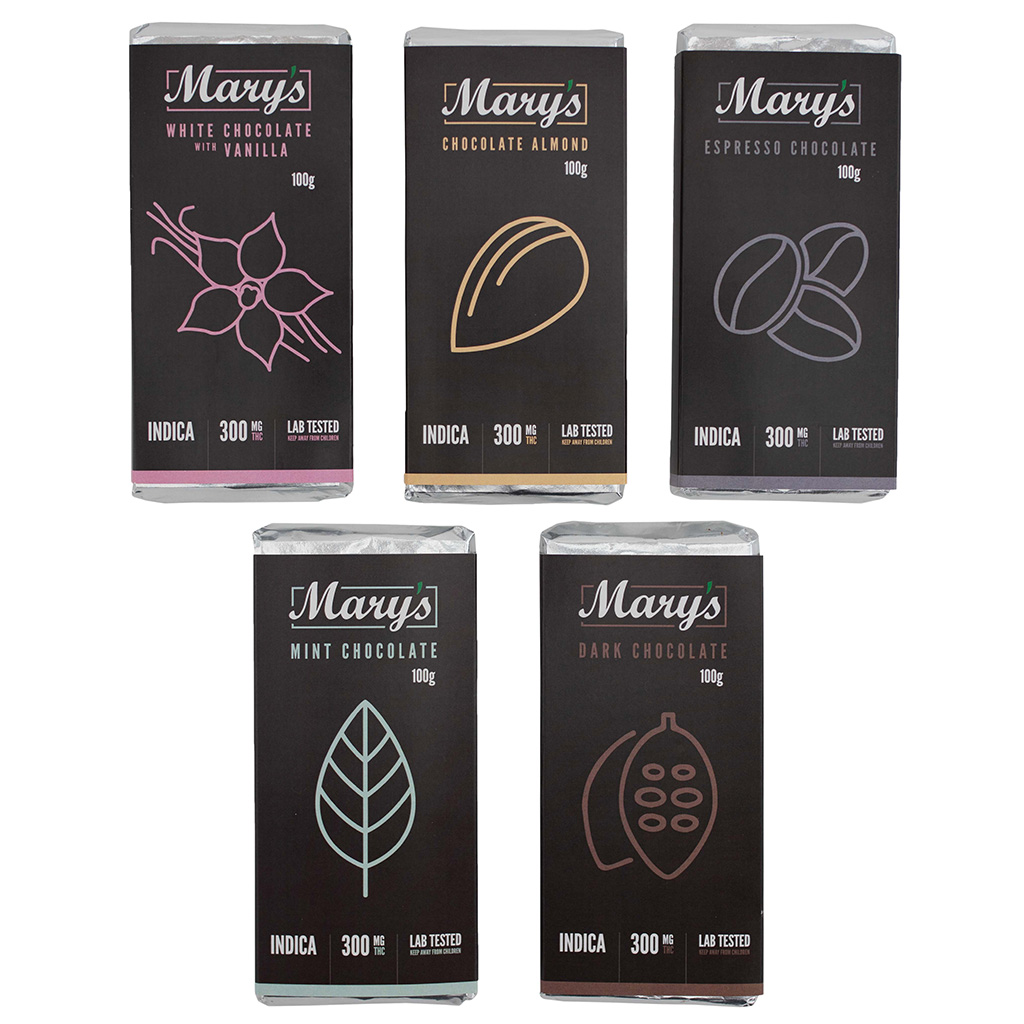 Mary's Medibles – Dark Chocolate Bar 300mg
