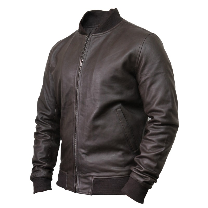 Leather bomber jackets for men - Brandslock