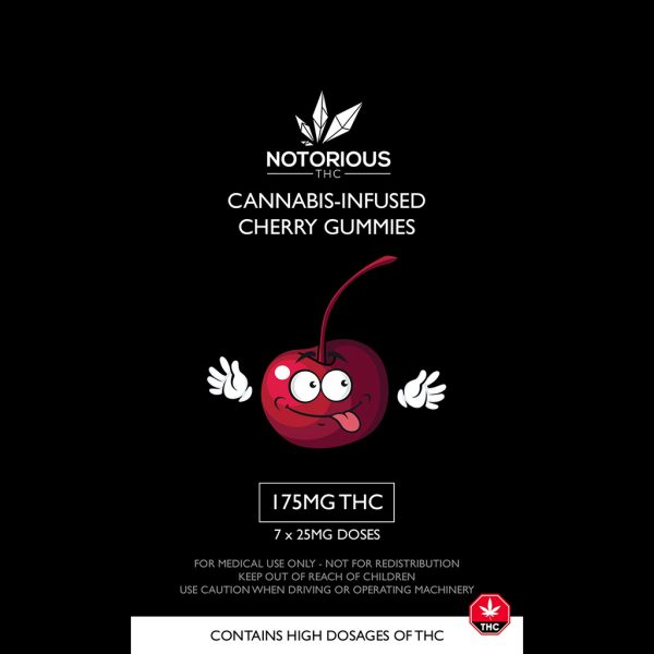 Notorious THC – Cherry Gummies (175MG THC)