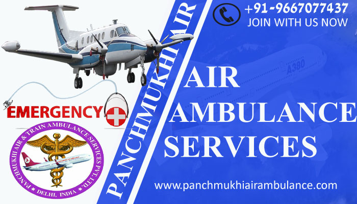 Now you can book Appreciable Panchmukhi Air Ambulance Service in Indore