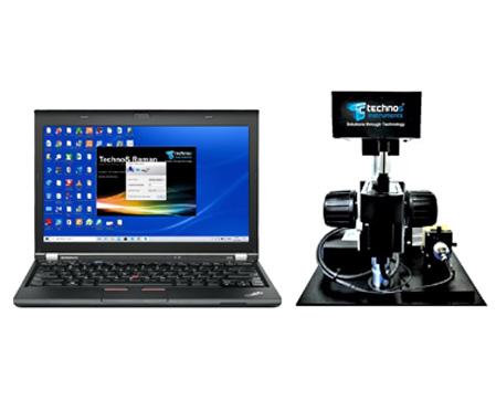 Single Raman spectrometer instrument