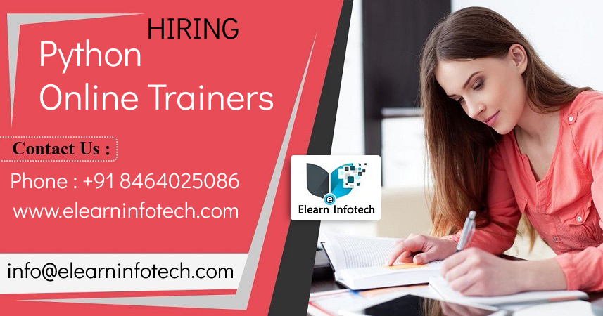 Urgent Requirement for Python Online Trainers