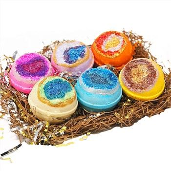 Wholesale Bath Fizzy Bomb For Sales Crystal With Essential Oil Colorful Bath Bomb Gift Sets23