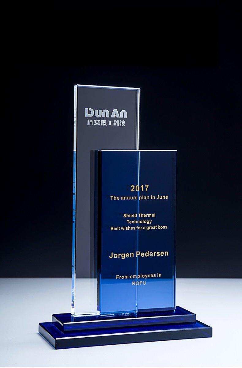 Blue And Clear Crystal Award65