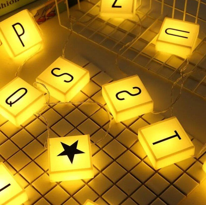 LED Changable Letters String Light92