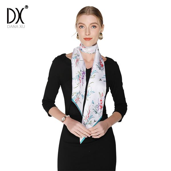 Long Thin Skinny Silk Scarf29