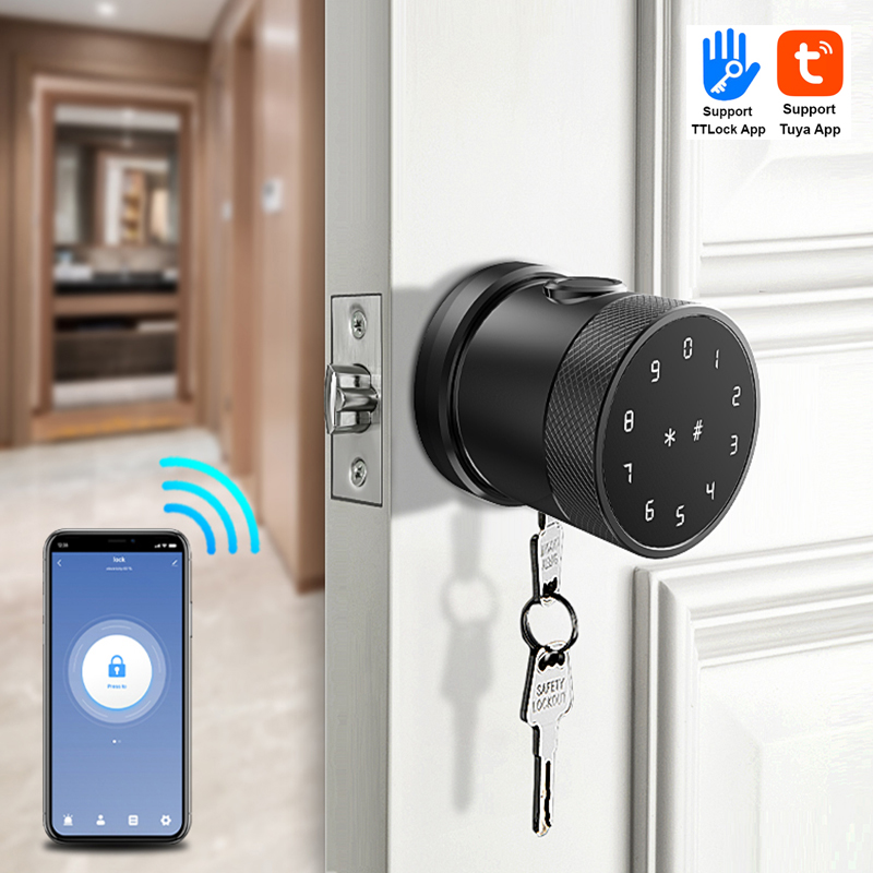 Tuya WiFi Electronic Door Knob Ring Smart Lock9