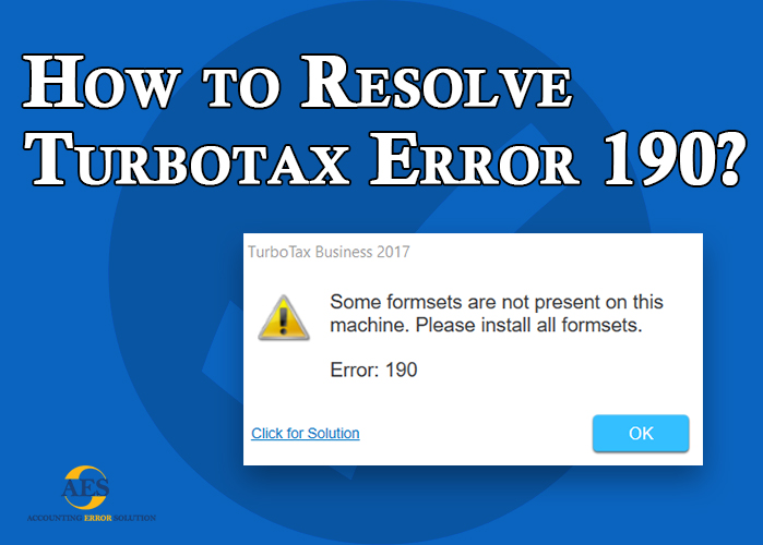 How to resolve TurboTax error 190 | TurboTax Error 190