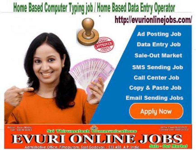 Part Time Or Full Time Home Based Data Entry Jobs