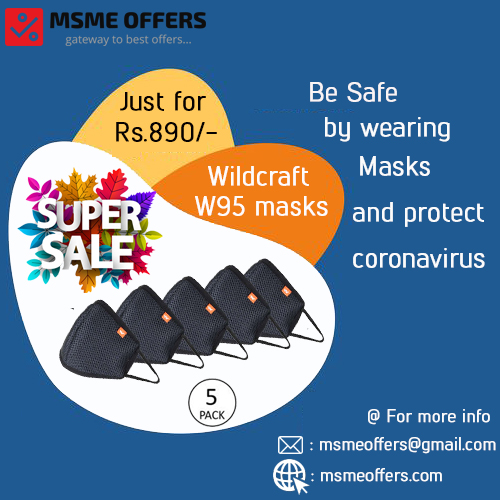 wildcraft-w95 mask (pack of 5)